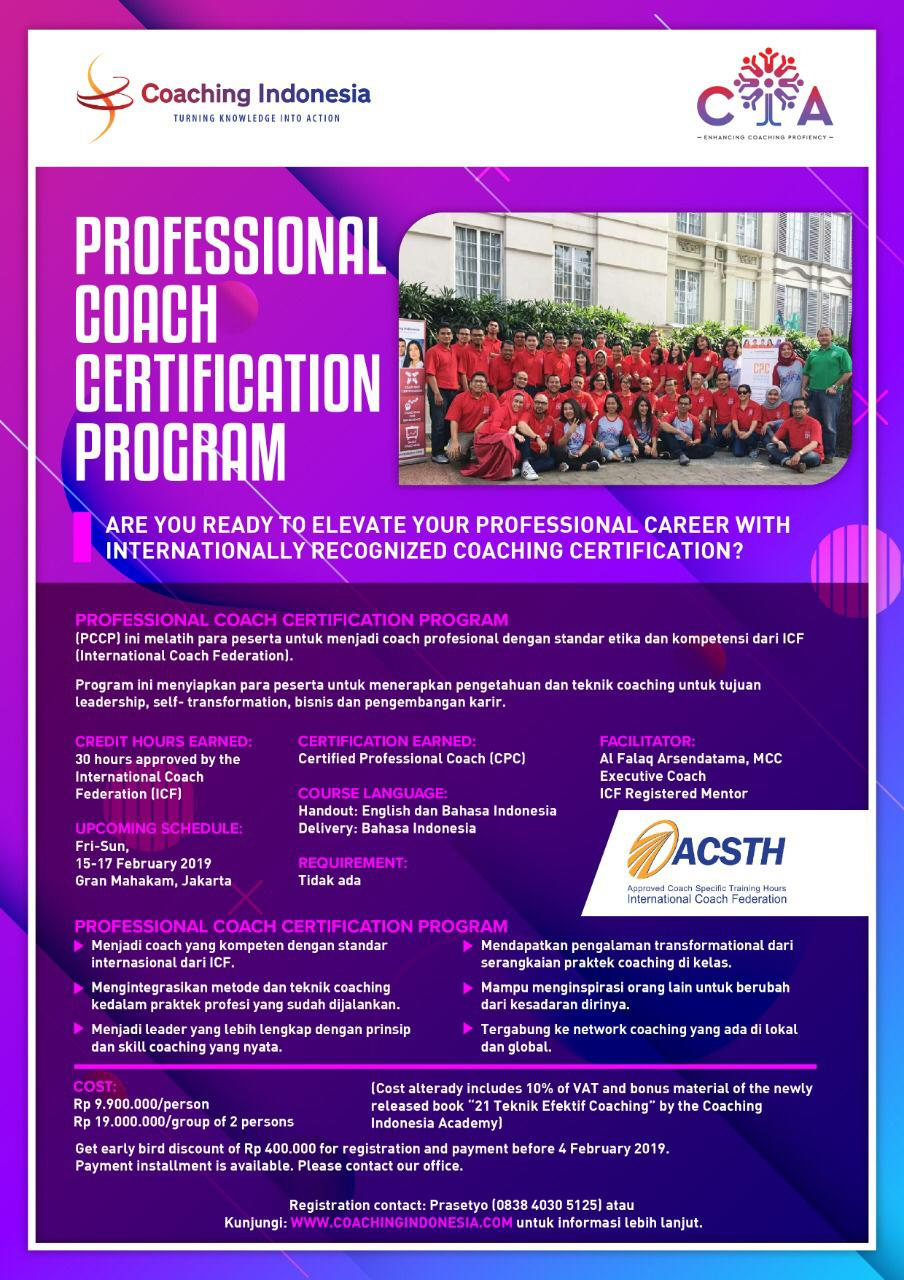 Professional Coach Certification Program